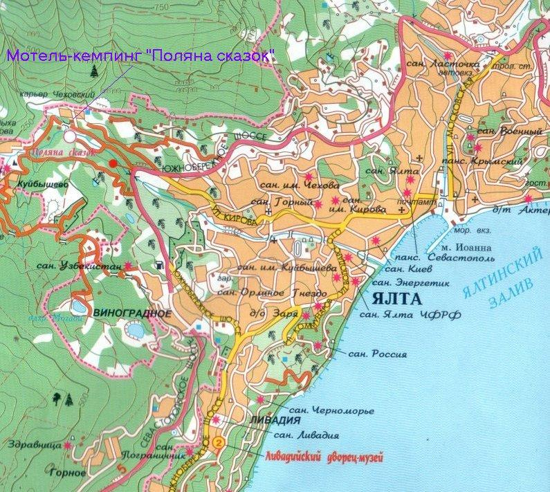 Yalta and its western vicinities